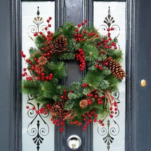 Home Decor: 25 Christmas Wreath Ideas Messagenote.com diy christmas wreaths for front door