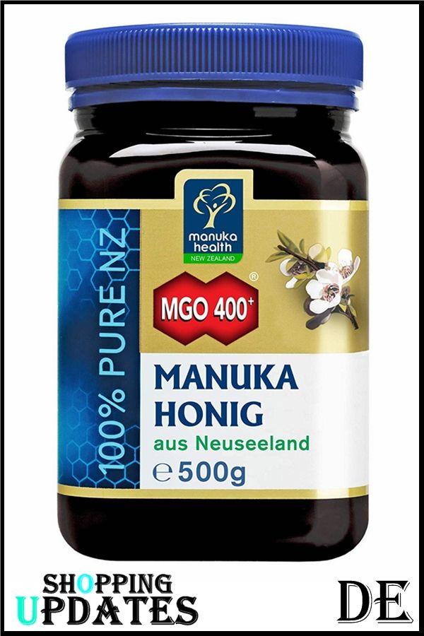 Manuka Health Manuka Honig Mgo 400 500g 100 Pur Aus Neuseeland Mit Zertifiziertem Methylglyoxal Gehalt In 2020 Supplement Container Health Food