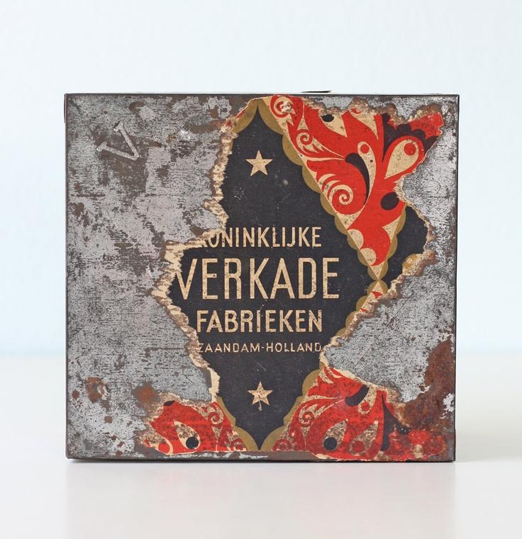 Vintage Biscuit Tin - Verkade of Holland.