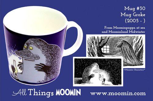Moomin.com - Moomin mug Groke / Hufsa