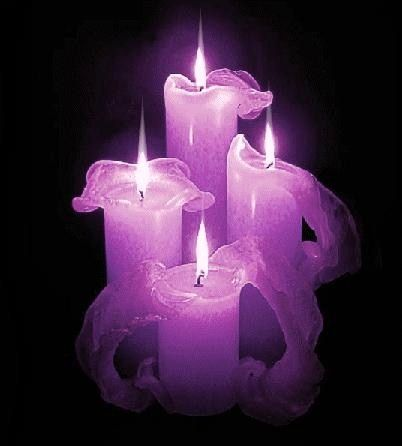 Purple candles... Ancient wisdom, the third eye, psychic powers, meditation, spirituality, success, confidence, hidden knowledge, protection, divination. Enhances psychic abilities.