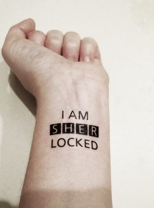 Sherlock  I am Sherlocked  Temporary Tattoo by PopGeekTattoos, $5.00 - I.WANT.THIS.