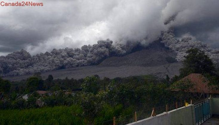 Indonesia's Mount Sinabung volcano erupts, spewing ash into the sky