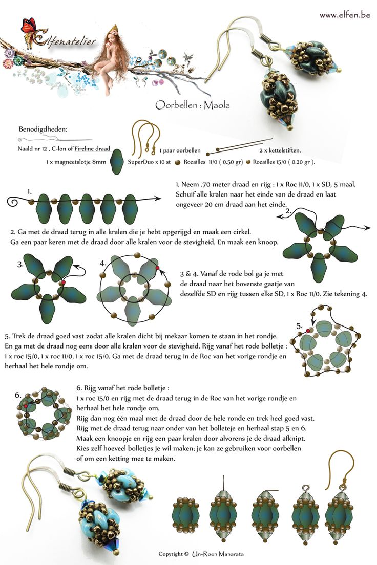 Free Beaded Earring Pattern featured in Bead-Patterns.com Newsletter!