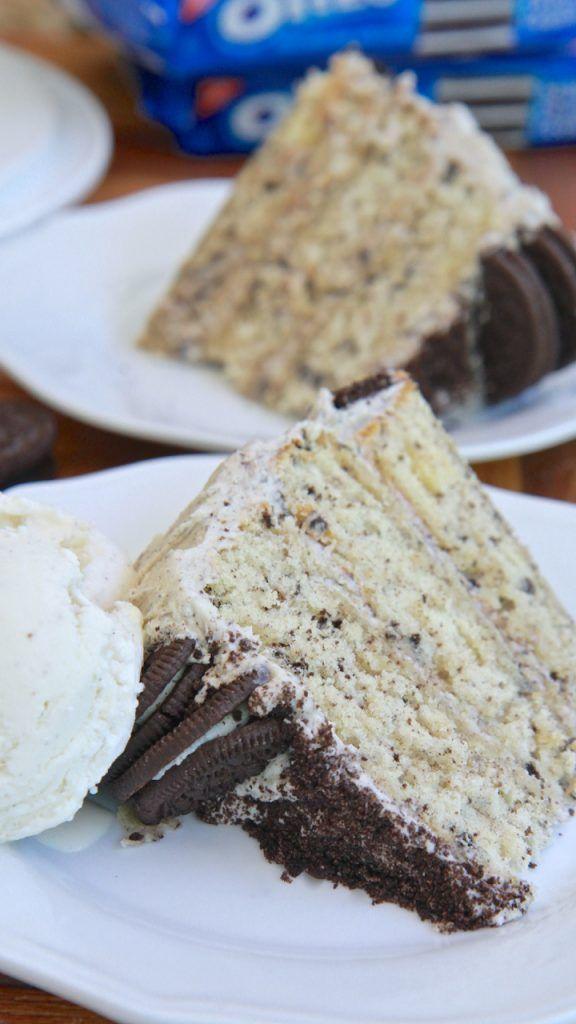 Homemade Cookies & Cream Cake