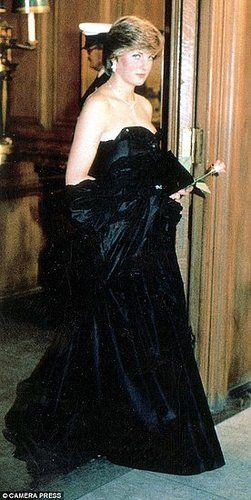March 09, 1981: Lady Diana Spencer making her first official appearance at a gala evening at Goldsmith's Hall to raise funds for the Royal Opera House in London.