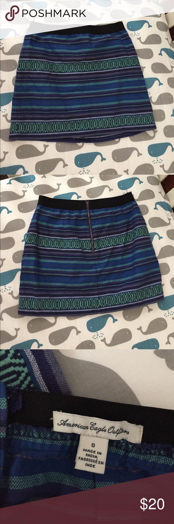AEO Mini Skirt Super cute American Eagle 🦅 mini skirt in EUC. Size 0. American Eagle Outfitters Skirts Mini