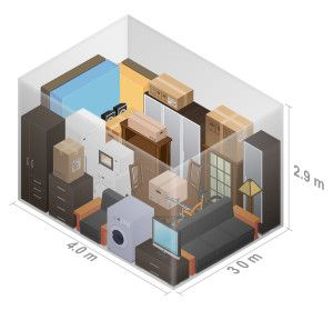 3D visual of 3 bedroom unit Personal storage