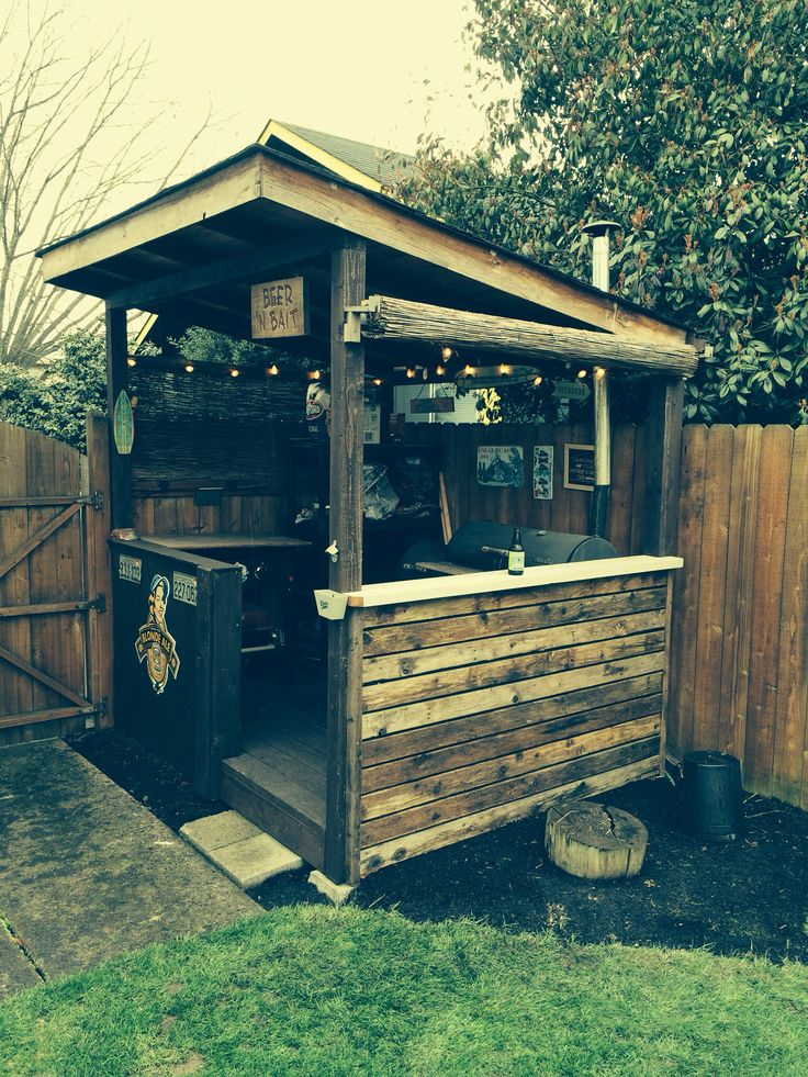 92 best bbq outdoor kitchen images on pinterest for Outdoor kitchen shed