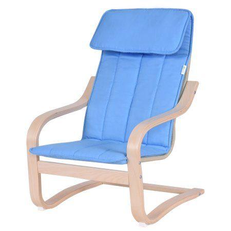 Goplus Kids Armchair Children Leisure Lounge Wood Home Furniture Kiddie Blue New