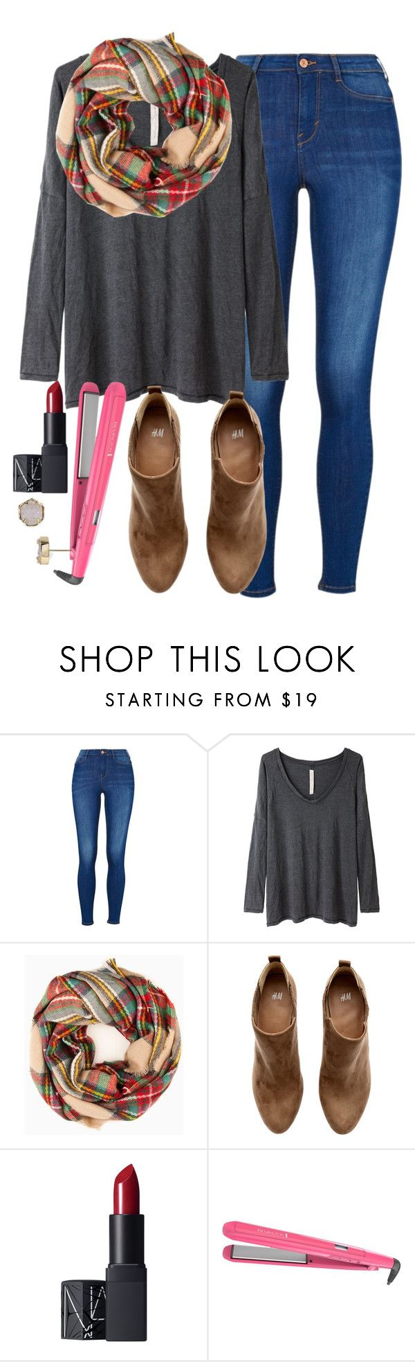"""""""//elizabeth"""" by southern-prep-gals ❤ liked on Polyvore featuring Raquel Allegra, H&M, NARS Cosmetics, Remington and Kendra Scott"""