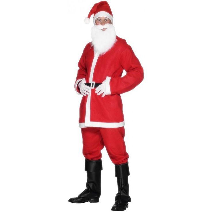 Santa Costume Adult Mens Christmas Suit Funny SantaCon Fancy Dress #Smiffys