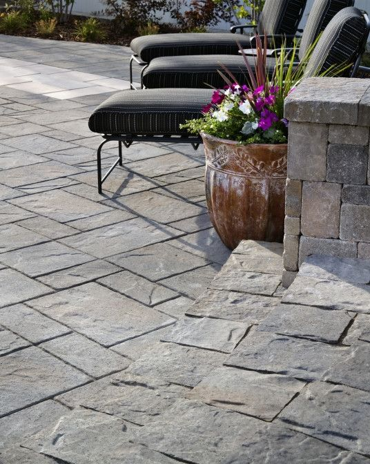 Mega Lafitt And Lafitt Rustic Slab Pavers Work Well Together To Transition  From One Space To The Next. | Walkway Ideas | Pinterest | Spaces, Patios  And ...