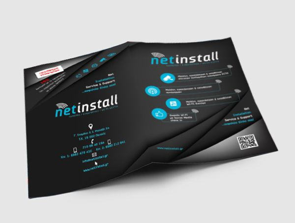 Check our new #brochure #design for netinstall #logo by smartgraphic.gr