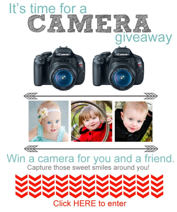 Win A DSLR Camera - And One For A Friend!! -- Tatertots and Jello: Friends, Camera Giveaway, Dslr Cameras, Camera And Win, Awesome Blogs, Canon Cameras, Fabulous Camera And, Giveaway Freecamera, Awesome Giveaway