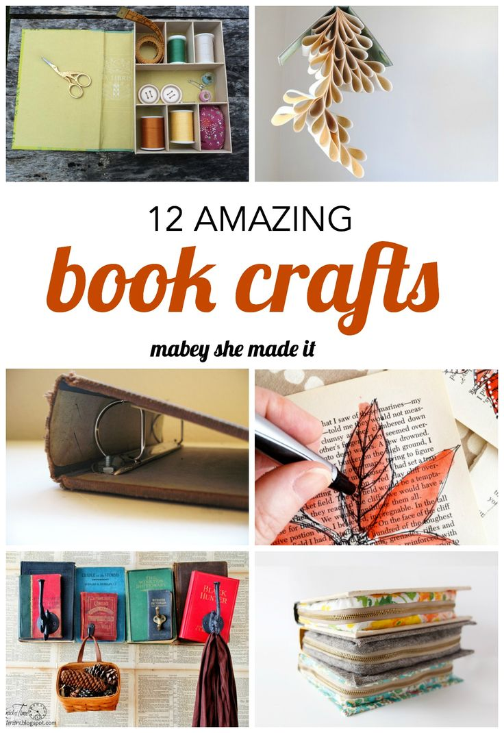 477 best images about fun things to do with old books on for Book craft ideas