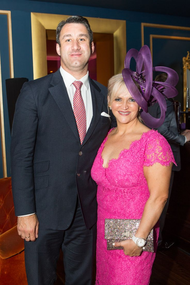 Melanie Morris of Image Magazine and partner Trevor Rigley attending the annual 'Best Hat Event' at the g Hotel & Spa for the Galway Races 2014 www.theghotel.ie
