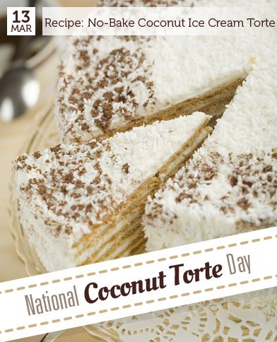 No-Bake Chocolate Coconut Ice Cream Torte | Recipe | Torte, Coconut ...