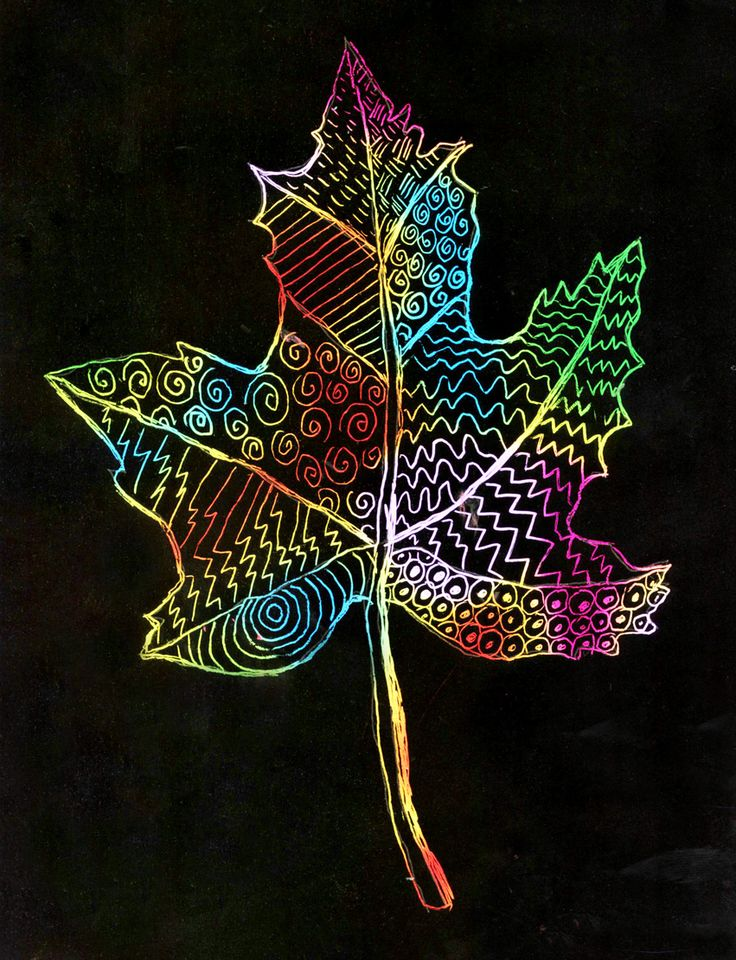 scratch+art+leaf+post