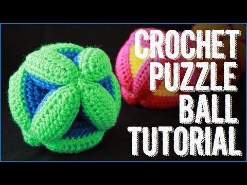Pelotas Rompecabezas Tejidas - Juguetes didácticos a crochet - YouTube