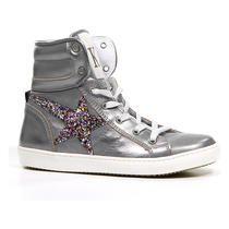 Kanjers Zilveren Hoge Sneakers