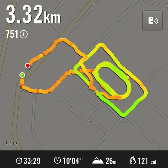 This may look as a slow run, but this is the first time I'm running with my son on running track. I am happy to see he run with his pyjamas and smile very big. He enjoyed it, so did I.