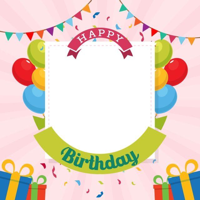 Happy Birthday Typography Vector Design Template For Birthday Card Celebration Happy Birthday Typography Birthday Typography Happy Birthday Posters