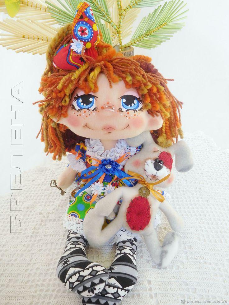 Купить Текстильная кукла Василиска и Дружок.Интерьерная кукла в интернет магазине на Ярмарке Мастеров