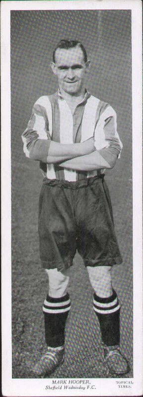 PANEL PORTRIATS.TOPICAL TIMES 1933 - 1939 MARK HOOPER SHEFFIELD WEDNESDAY F C