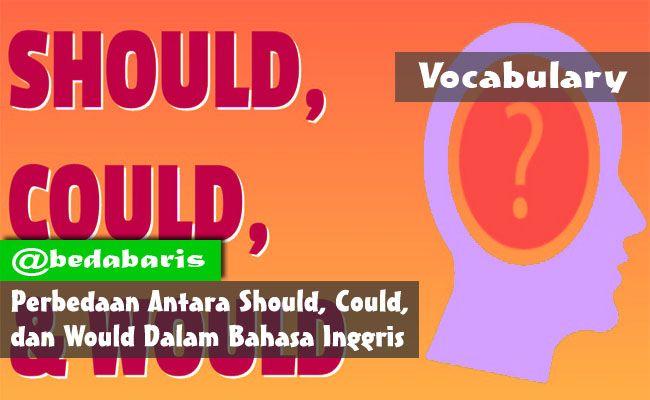 Perbedaan Antara Should, Could, dan Would dalam Bahasa Inggris   http://www.belajardasarbahasainggris.com/2017/11/30/perbedaan-antara-should-could-dan-would-dalam-bahasa-inggris/