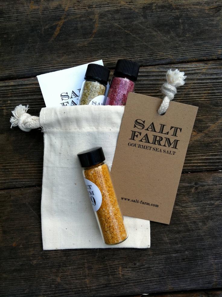 3 pack Gourmet Sea Salt Sampler. $10.00, via Etsy.