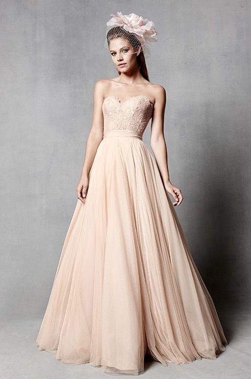 45 best images about Blush wedding dresses on Pinterest | Wedding ...