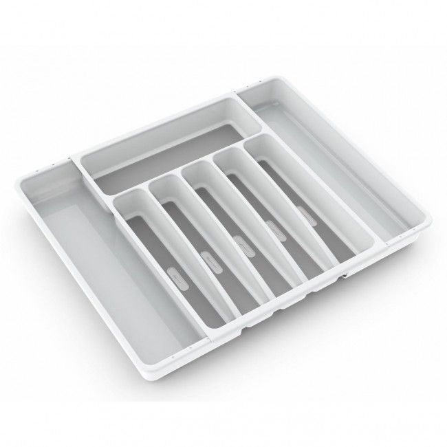 Made Smart Tidy Expandable Cutlery Tray (White)