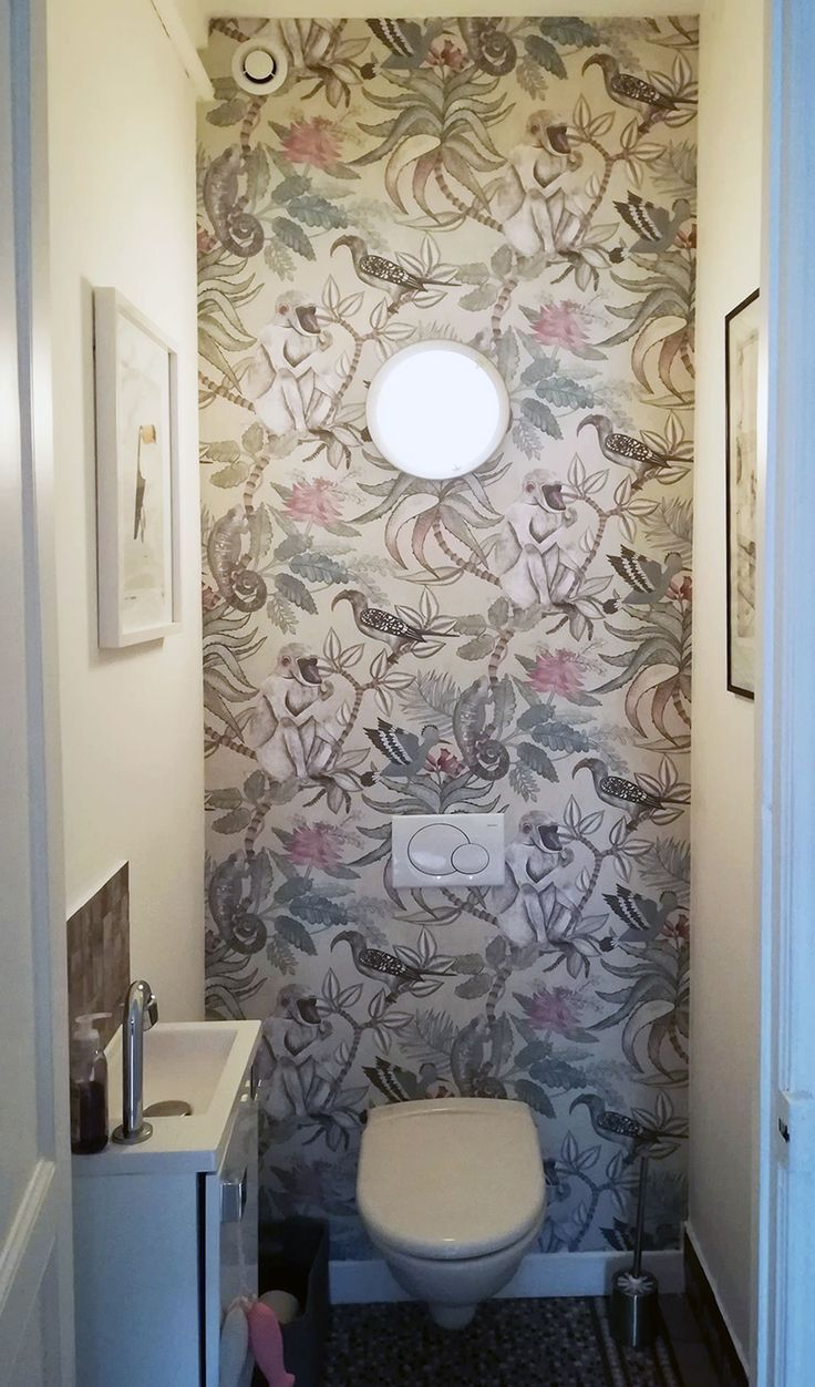 167 Best Papier Peint Toilettes Images On Pinterest