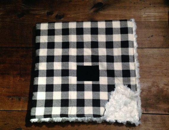 Buffalo Plaid Stroller Blanket - Etsy - Backwoods Baby Shop
