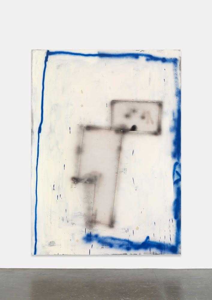 David Ostrowski - F (WALL-E), oil, lacquer and cardboard on canvas, 180x130cm
