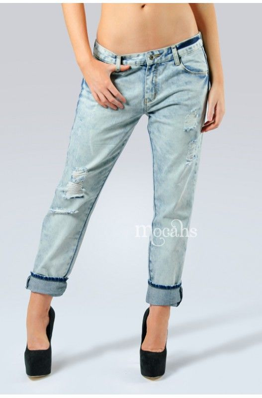 """Breaking Bad"" Boyfriend Jeans- Lightweight denim boyfriend jeans! Distressed denim! Dress them up or go casual! Belt loops, front & back pockets! 100% Cotton"