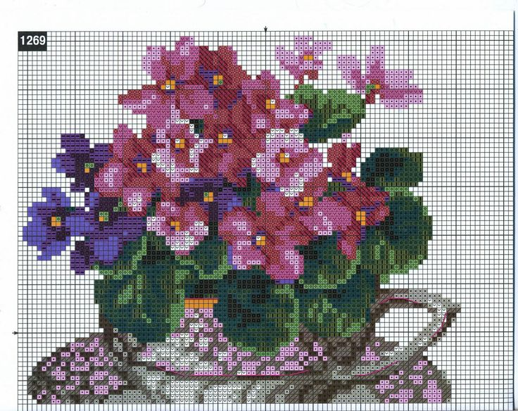 "Vyshivalka: Download Riolis 1269 embroidery pattern of ""Good morning  1-5"