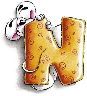 Alfabeto Diddl lettera N