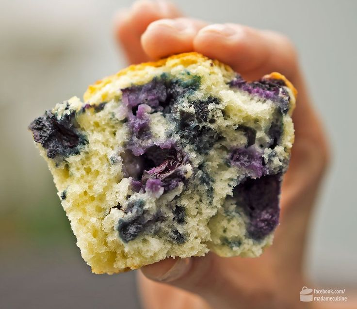 Locker fluffige Blaubeer-Muffins | Madame Cuisine Rezept