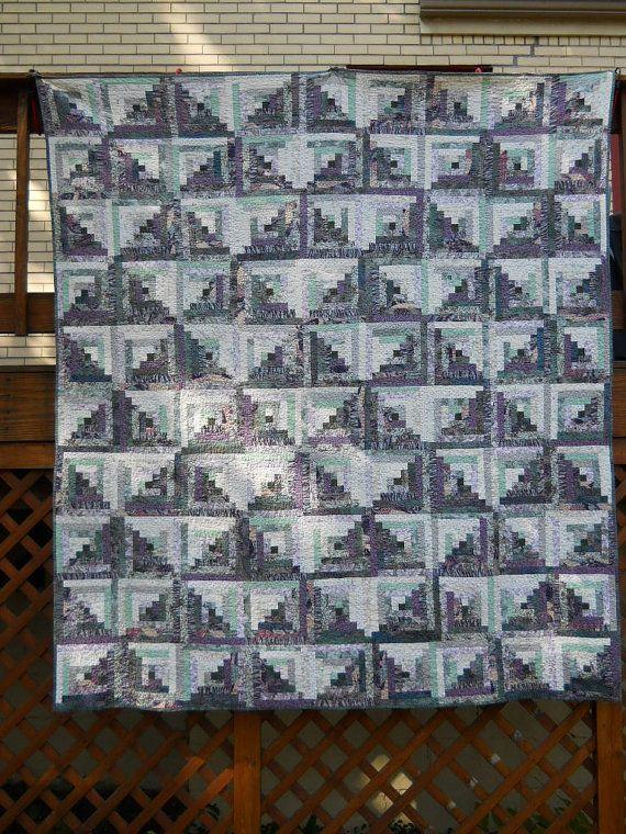 110 best Log Cabin quilts images on Pinterest | Pattern, Crafts ... : queen size log cabin quilt pattern - Adamdwight.com