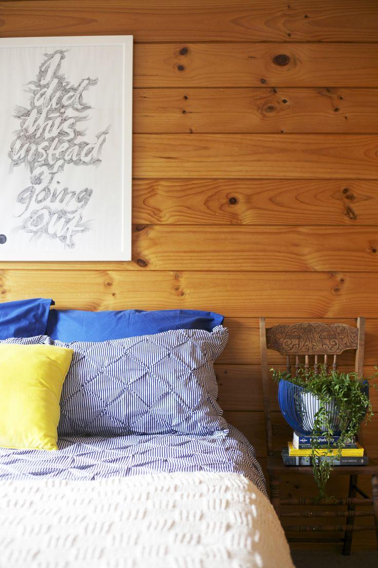 Styling by #placesandgraces - #lockwood #blueandyellow #saraymaxey #artprint @endemicworld #ididthisinsetadofgoingout #indoorplant #vintahechair