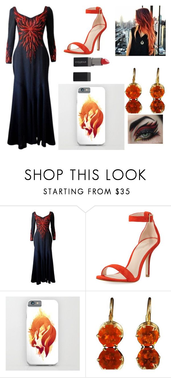 """""""Fire and ice!🔥❄️"""" by reaol ❤ liked on Polyvore featuring Murray Arbeid, Pelle Moda and Smashbox"""