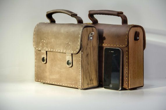 Special edition wood and leather unique unisex by stitchbag