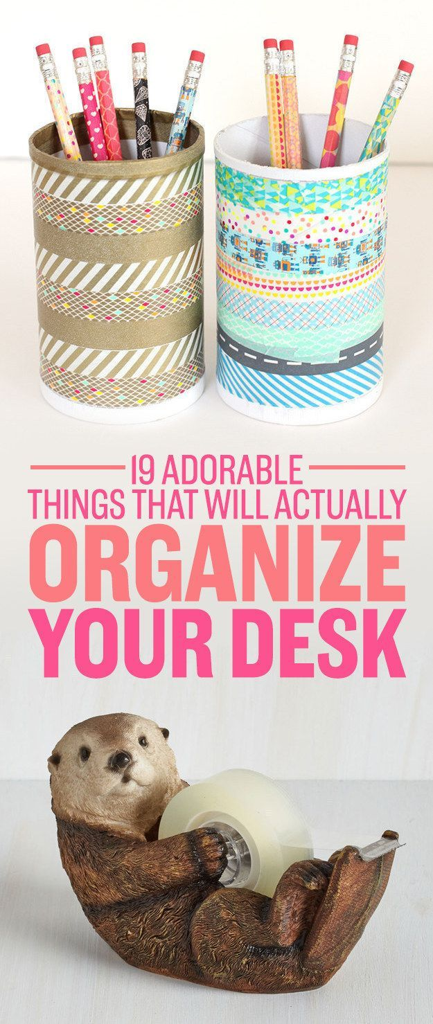 Make your desk as cute and organized as you are.
