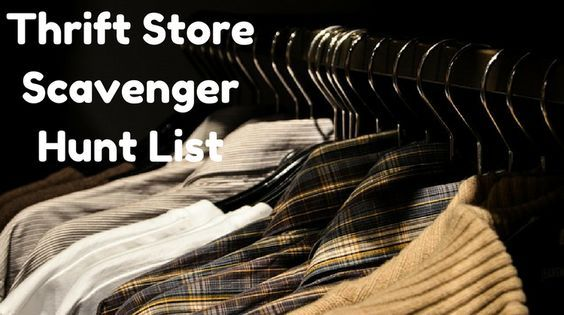 If you want to plan a thrift store scavenger hunt, here's a free printable list you can use.