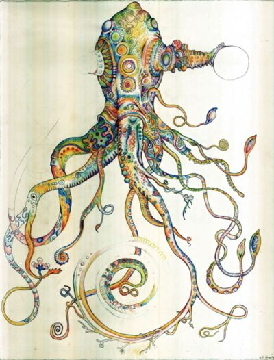 186 best Illustrations- Magic squid octopus images on ...