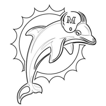 Miami Dolphins from NFL Coloring Sheet Printable | Miami ...