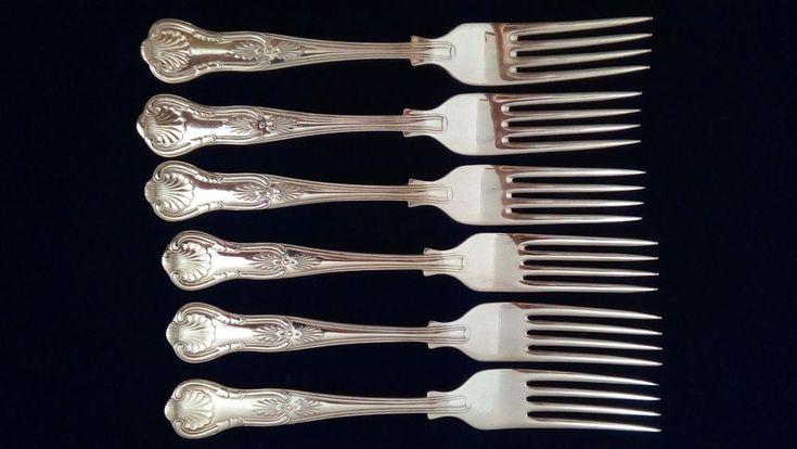 Lovely Set Six Kings Pattern EPNS A1  Dinner Forks Sheffield England VGC