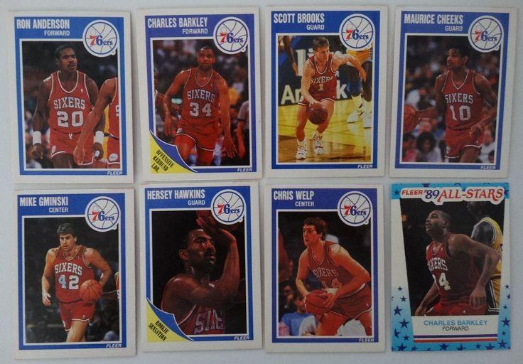 Details about 198990 fleer philadelphia 76ers sixers team